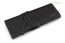 Saki P-660 Roll Pen Case - Leatherette - Medium - Black - SAKI 660018