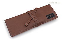 Saki P-660 Roll Pen Case - Leatherette - Medium - Brown - SAKI 660094