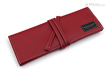 Saki P-660 Roll Pen Case - Leatherette - Medium - Wine - SAKI 660155