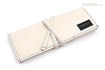 Saki P-660 Roll Pen Case - Leatherette - Medium - Off-White - SAKI 660216
