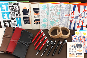 New Products: Wood Tape, Letterpressed Notebooks and Cards, Fountain Pens, and Leather Pen Cases!