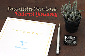 Pen Perks: Pinterest Fountain Pen Love Giveaway