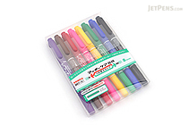 Zebra Mackee Care Refillable Double-Sided Marker - Extra Fine / Fine - 8 Color Set - ZEBRA YYTS5-8C