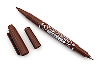 Zebra Mackee Care Refillable Double-Sided Marker - Extra Fine / Fine - Brown - ZEBRA YYTS5-E