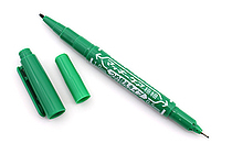 Zebra Mackee Care Refillable Double-Sided Marker - Extra Fine / Fine - Green - ZEBRA YYTS5-G
