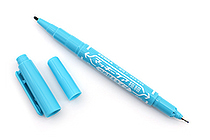 Zebra Mackee Care Refillable Double-Sided Marker - Extra Fine / Fine - Light Blue - ZEBRA YYTS5-LB