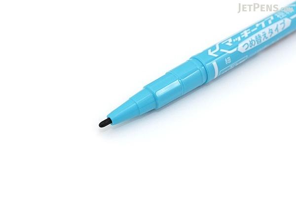 Zebra Mackee Care Refillable Double-Sided Marker - Extra Fine / Fine - Light Blue - ZEBRA YYTS5-LB