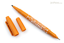 Zebra Mackee Care Refillable Double-Sided Marker - Extra Fine / Fine - Light Brown - ZEBRA YYTS5-LE