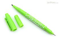 Zebra Mackee Care Refillable Double-Sided Marker - Extra Fine / Fine - Light Green - ZEBRA YYTS5-LG