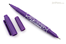 Zebra Mackee Care Refillable Double-Sided Marker - Extra Fine / Fine - Purple - ZEBRA YYTS5-PU
