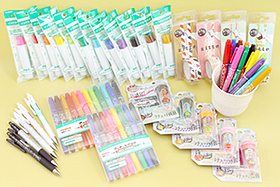 New Products: Colorful Markers, Innovative Pencil Sharpeners, Fun Zipper Tapes, Stylish Mechanical Pencils, and More!