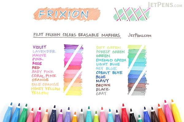 Pilot FriXion Colors Erasable Marker - Emerald Green - PILOT SFC-10M-EG