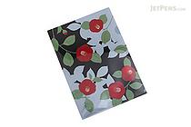 Kurochiku Japanese Pattern Clear Folder - A4 - Edatsubaki (Camellia) - KUROCHIKU 71404601