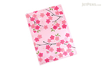 Kurochiku Japanese Pattern Clear Folder - A4 - Sakuratei (Cherry Blossom) - KUROCHIKU 71404602