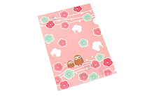 Kurochiku Japanese Pattern Clear Folder - A4 - Ume to Fukurou (Plum and Owl) - KUROCHIKU 71404604