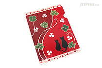Kurochiku Japanese Pattern Clear Folder - A4 - Neko no Oyako (Cat Family) - KUROCHIKU 71404605