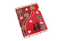 Kurochiku Japanese Pattern Clear Folder - A4 - Neko no Oyako (Cat Family) - KUROCHIKU 71404605