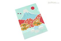 Kurochiku Japanese Pattern Clear Folder - A4 - Fuji (Mt. Fuji) - KUROCHIKU 71404609