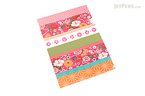 Kurochiku Japanese Pattern Clear Folder - A4 - Irodorishima (Colorful Stripes) - KUROCHIKU 71404610