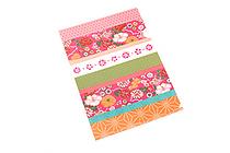 Kurochiku Japanese Pattern Clear Folder - A4 - Irodorishima (Colorful Stripes) - KUROCHIKU 71404610