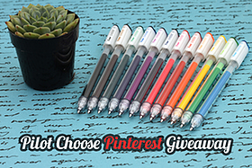 Pen Perks: Pilot Choose Pinterest Giveaway
