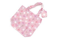 Kurochiku Japanese Pattern Eco-Bag - Small - Usagi Hanamarumon (Rabbit and Flower Circle) - KUROCHIKU 21404703