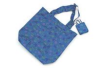 Kurochiku Japanese Pattern Eco-Bag - Small - Aoikarakusa (Hollyhock Arabesque) - KUROCHIKU 21404704