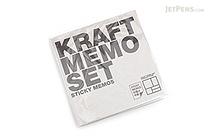 Bonomemo Kraft Sticky Memo Set - BONOMEMO KRAFT SET