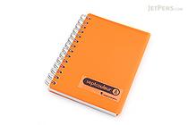 Maruman Sept Couleur Notebook - B7 - 6.5 mm Rule - Orange - MARUMAN N576-09