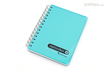 Maruman Sept Couleur Notebook - B7 - 6.5 mm Rule - Light Blue (Teal) - MARUMAN N576B-52