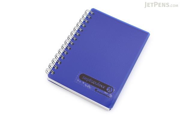Maruman Sept Couleur Notebook - B7 - 6.5 mm Rule - Navy - MARUMAN N576-72