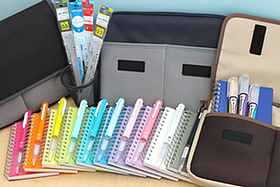 New Products: Versatile Carrying Bags, Bright Notebooks, Colorful Multi Pens, Innovative Highlighters, and More!
