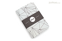 "Word Notebooks - Grey Polygon - 3.5"" x 5.5"" - Pack of 3 - WORD NOTEBOOKS GRAY PG"