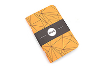 "Word Notebooks - Orange Polygon - 3.5"" x 5.5"" - Pack of 3 - WORD NOTEBOOKS ORANGE PG"