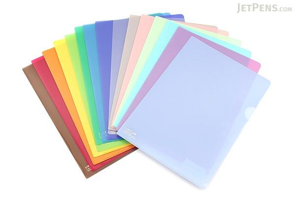 Lihit Lab Color Clear Folder - B5 - Pink - LIHIT LAB F-76-12