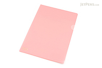 Lihit Lab Color Clear Folder - B5 - Pink - LIHIT LAB F-76-12