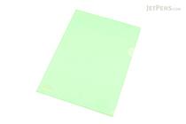 Lihit Lab Color Clear Folder - B5 - Light Green - LIHIT LAB F-76-13