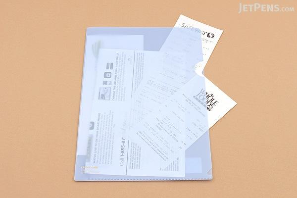 Lihit Lab Color Clear Folder - B5 - Bluish Light Purple - LIHIT LAB F-76-15