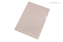 Lihit Lab Color Clear Folder - B5 - Beige - LIHIT LAB F-76-16