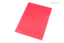Lihit Lab Color Clear Folder - B5 - Crimson - LIHIT LAB F-76-2