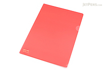 Lihit Lab Color Clear Folder - B5 - Red - LIHIT LAB F-76-3