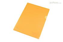 Lihit Lab Color Clear Folder - B5 - Orange - LIHIT LAB F-76-4