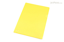 Lihit Lab Color Clear Folder - B5 - Yellow - LIHIT LAB F-76-5