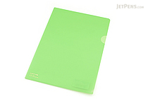 Lihit Lab Color Clear Folder - B5 - Yellow Green - LIHIT LAB F-76-6