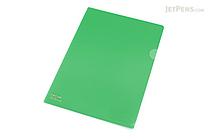 Lihit Lab Color Clear Folder - B5 - Green - LIHIT LAB F-76-7