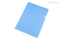Lihit Lab Color Clear Folder - B5 - Blue - LIHIT LAB F-76-8