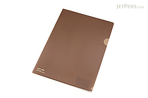 Lihit Lab Color Clear Folder - B5 - Brown - LIHIT LAB F-76-9