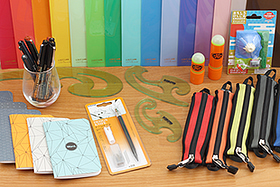 New Products: Notebooks, Pen Cases, File Holders and More in Fun Colors and Funky Cool Designs!