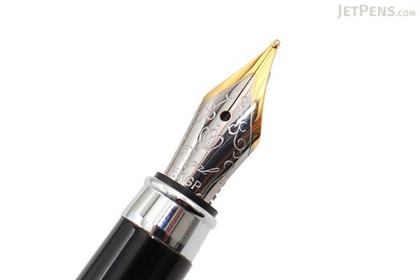 Regal 82 William Fountain Pen - Black - Medium Nib - REGAL 82F-B