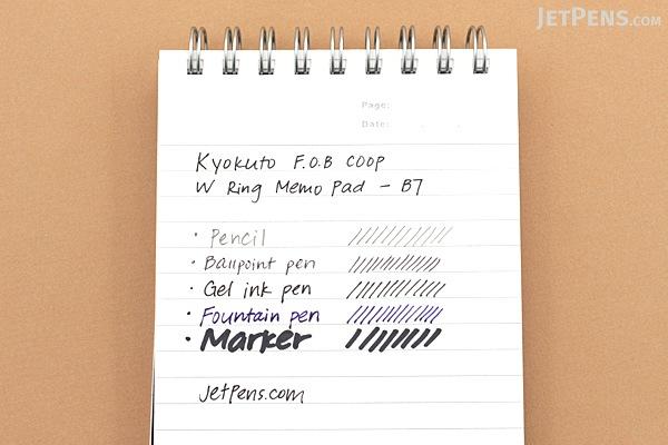 Kyokuto F.O.B COOP W Ring Memo Pad - B7 - Plain - White - KYOKUTO EW03B7W